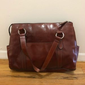 Fossil leather laptop briefcase